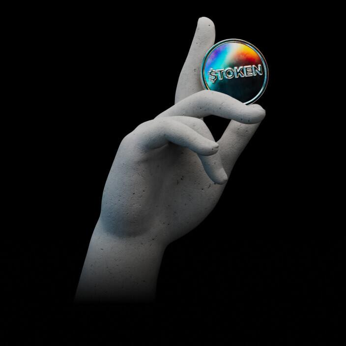 hand holding token